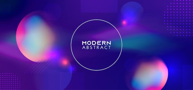 Trendy gradient with dynamic geometric shapes background Premium Vector