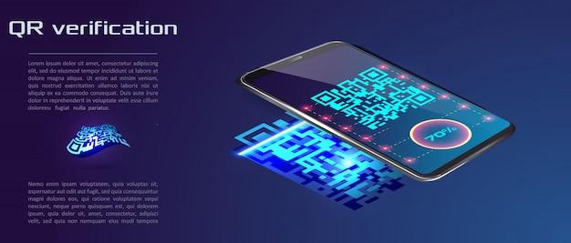 Trendy isometric vector smartphone Premium Vector