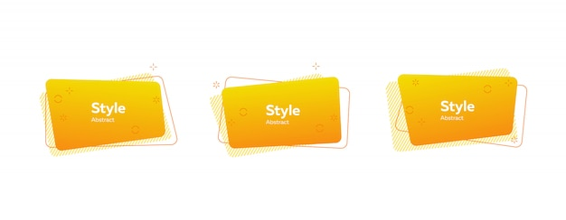 Trendy minimal abstract banner Free Vector