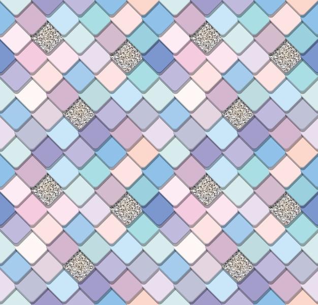 Trendy mosaic seamless background Premium Vector