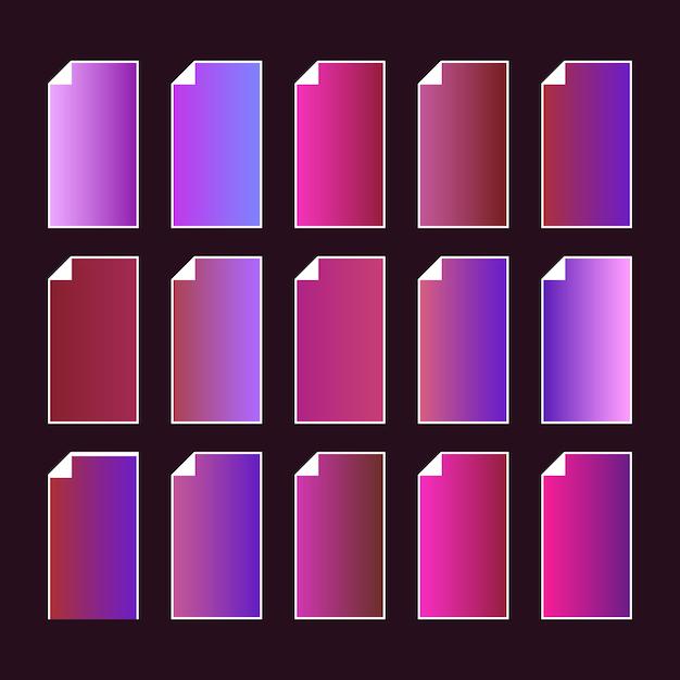 トレンディな紫ピンクのカラーパレット。 Premiumベクター