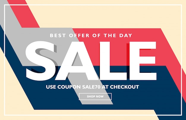 trendy sale poster banner design template Free Vector