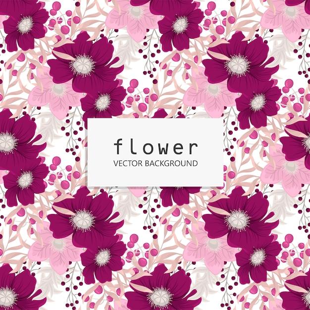 ベクトル図でトレンディなシームレス花柄 Premiumベクター