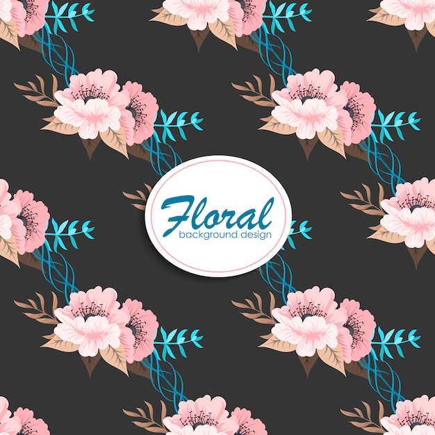 Trendy seamless floral pattern in vector Free Vector