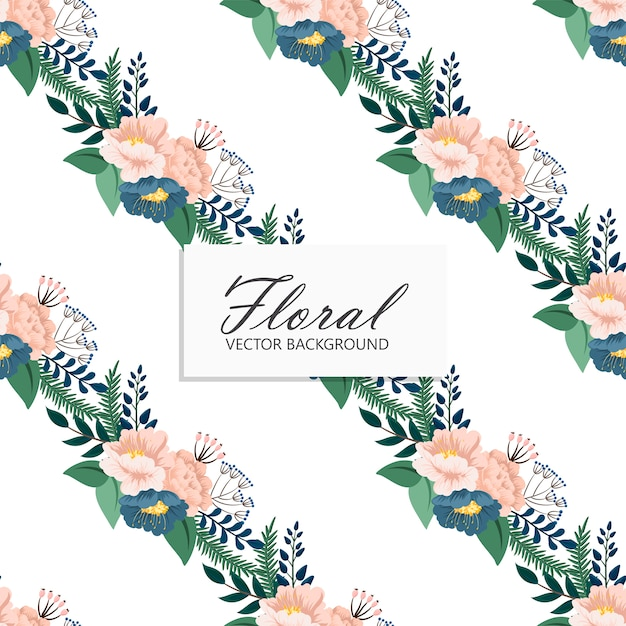 Trendy seamless floral pattern in Free Vector