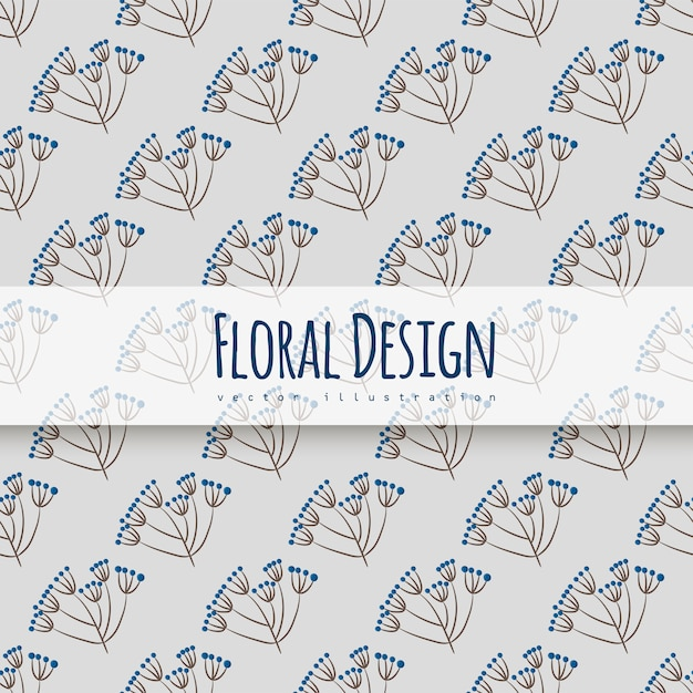 Trendy seamless floral pattern Free Vector