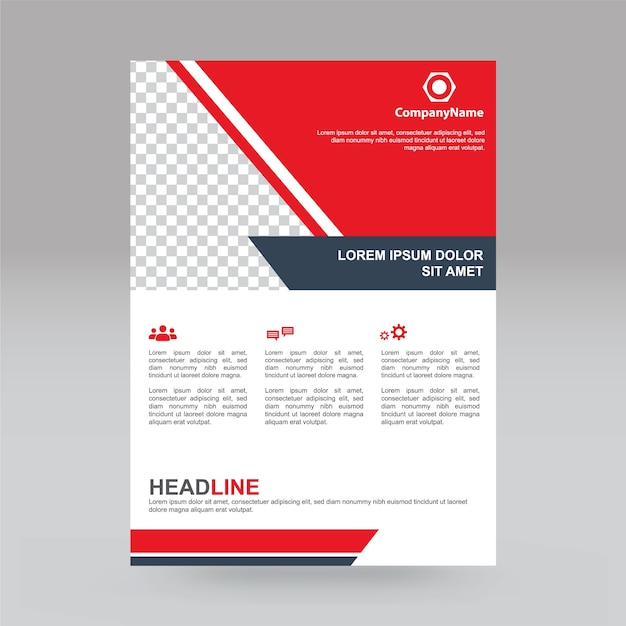 Trendy and simple business brochure or flyer design  Vector