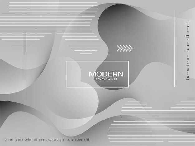 Trendy stylish grey color liquid background Free Vector