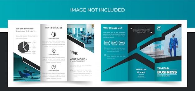 Tri fold brochure, business trifold brochure design, corporate trifold brochure premium Premium Vector