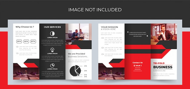 Tri fold brochure, business trifold brochure design, corporate trifold brochure premium Premium Vector