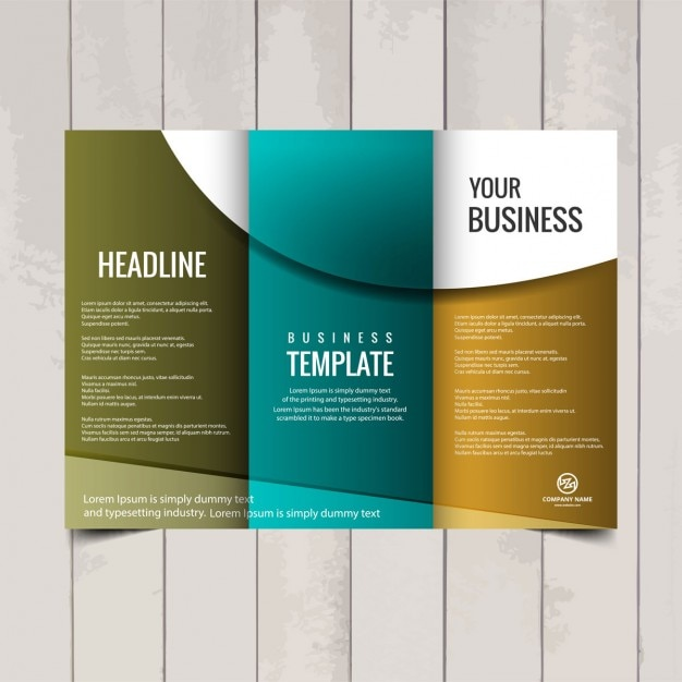 Tri fold brochure template Vector – Three Fold Flyer Template
