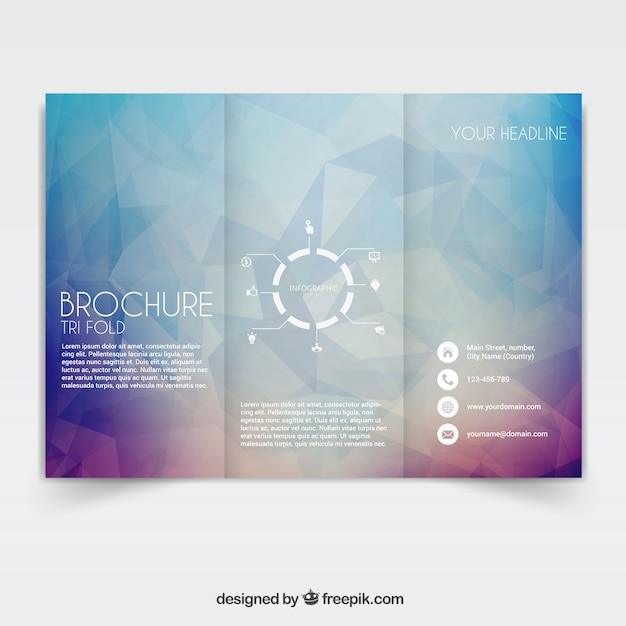 Tri fold brochure vector free download for Free online tri fold brochure template