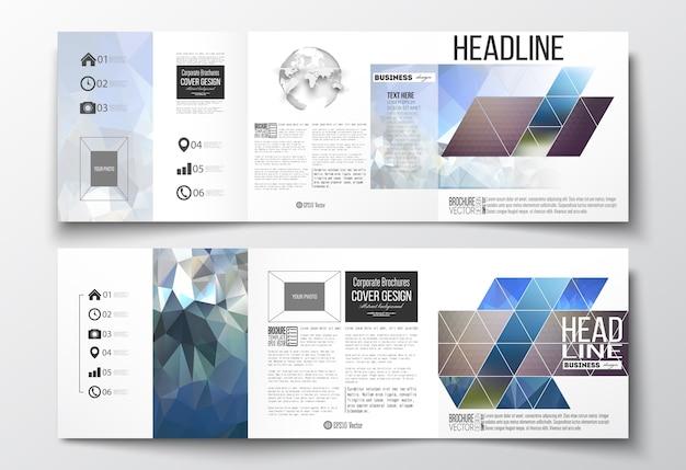 Tri-fold brochures Premium Vector