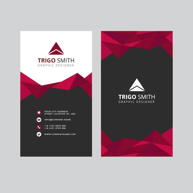 三角抽象名刺 Premiumベクター