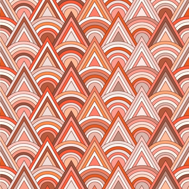 Triangle and round pattern
