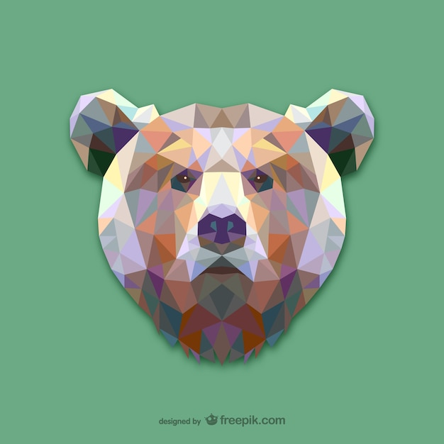 Triangle bear design Free Vector