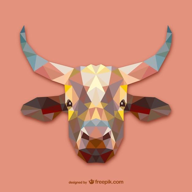 Triangle cow design Free Vector