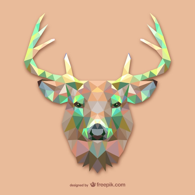 Triangle deer design Free Vector