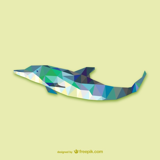 Dolphin Geometry Graphic Design