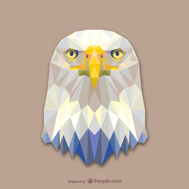 Triangle eagle design Free Vector