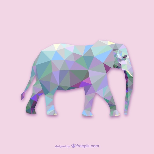 Triangle elephant design Free Vector