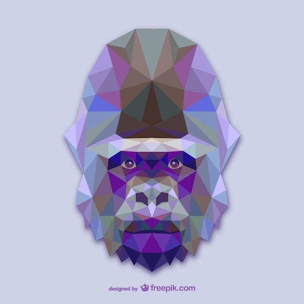 Triangle gorilla design Free Vector