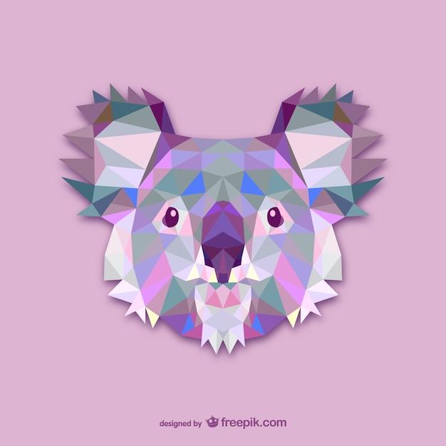 Triangle koala design Free Vector