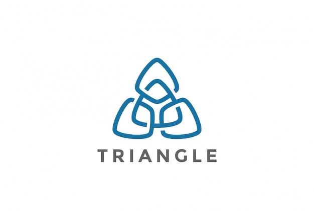 Icona del triangolo logo Vettore gratuito