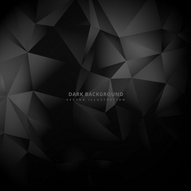 Triangle low poly dark background Free Vector