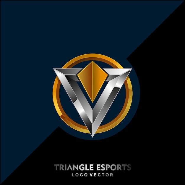 三角形のモダンなロゴ Premiumベクター