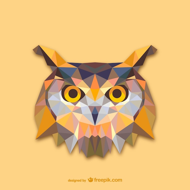 Triangle owl design  Free Vector