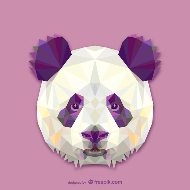 Triangle panda design Free Vector