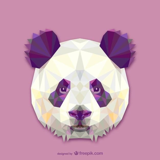 Дизайн треугольник панда Бесплатные векторы