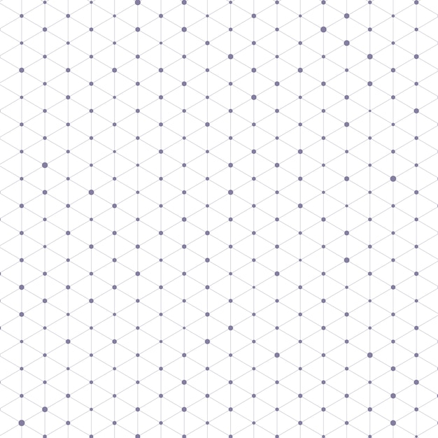 Triangle pattern with connecting lines and dots  Free Vector