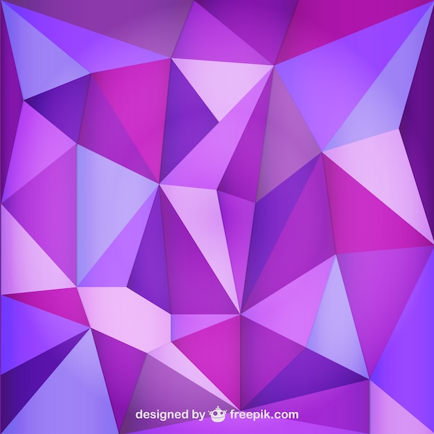 Purple Polygonal Abstract Background: Triangle Purple Background Vector