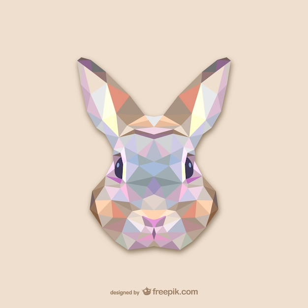 Triangle rabbit design Free Vector