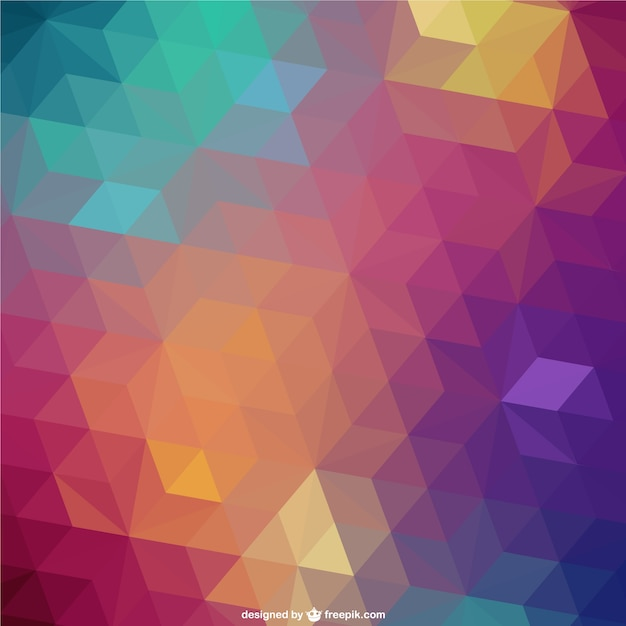 Triangle retro background Vector | Free Download