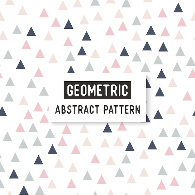Triangle seamless pattern. Free Vector