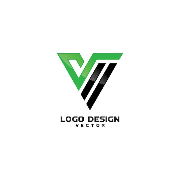 Triangle v letter line art logo design vector Premium Vector