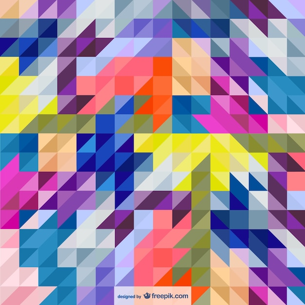 Triangles abstract style background Free Vector