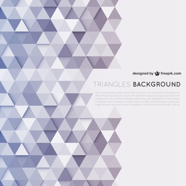 Triangles background Vector | Free Download