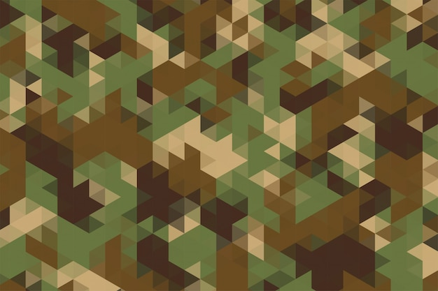 Triangles pattern in camouflage military army fabric style texture Free Vector