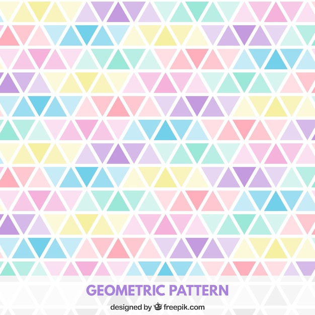 Triangles pattern in pastel colors Premium Vector