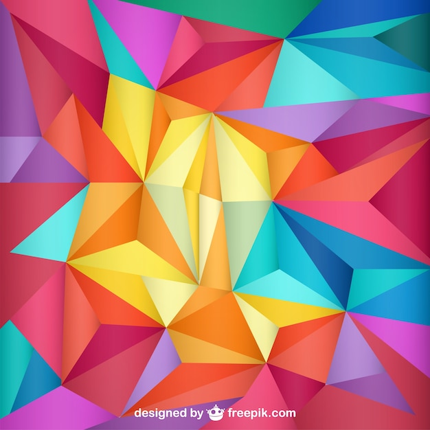 triangles template background vector free download
