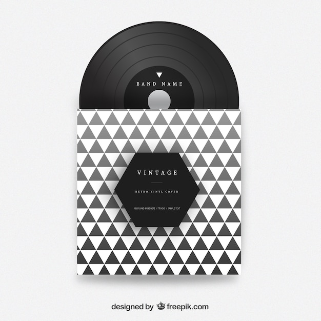 Triangles vinyl cover free vector