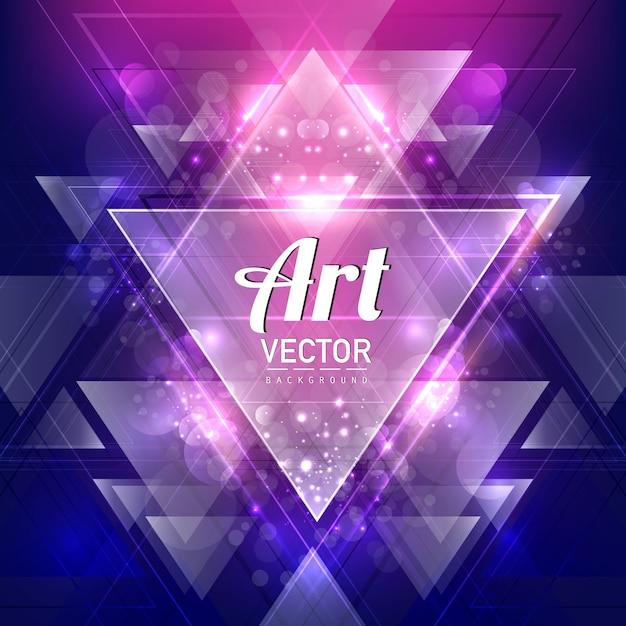triangular art background Free Vector