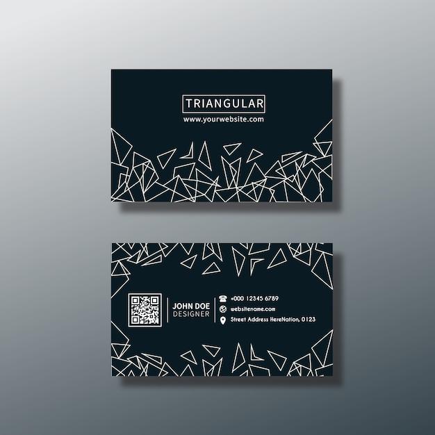 triangular business card design vector free download