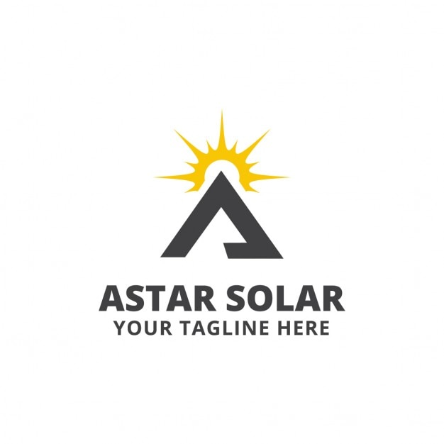 triangular logo with a sun vector free download