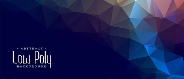 Triangular low poly abstract geometric banner design Free Vector