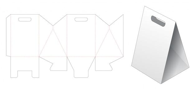 Triangular paper bag die cut template Premium Vector